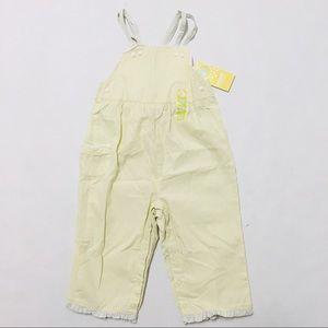 5/$25 NWT Gymboree yellow striped overalls 9-12 M